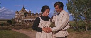 doctor still-of-geraldine-chaplin-and-omar-sharif-in-doctor-zhivago-(1965)-large-picture