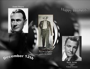 Happy Birthday to movie actors  12 12