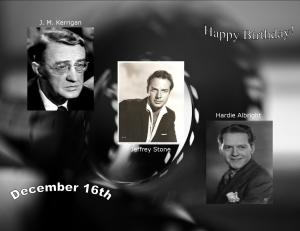 Happy Birthday to movie actors  12 16