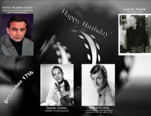 Happy Birthday to movie actors  12 17