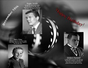 Happy Birthday to movie actors  12 18