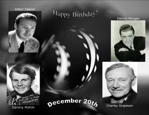 Happy Birthday to movie actors 12 20