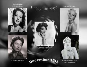 Happy Birthday to movie actors and actresses 12 12