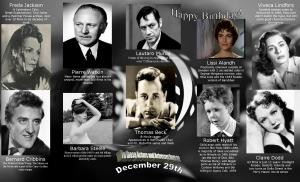 Happy Birthday to movie actors and actresses 12 29