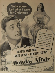 holiday affair1940s-vintage-holiday-affair-illustration-movie-poster-advertisement-hollywood-robert-mitchum-janet-leigh-wendell-corey