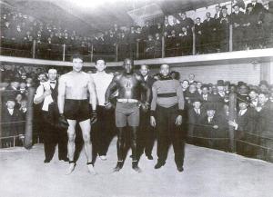 McLaglen vs.  Jack Johnson (World Heavyweight Champion) 6 Round Exhibition Fight, 1909.