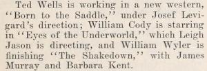 Eyes fo the Underworld August 8 1928 Hollywood Magazine