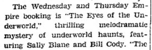 Eyes of the Underworld ad The_Chillicothe_Constitution_Tribune_Sat__May_11__1929_