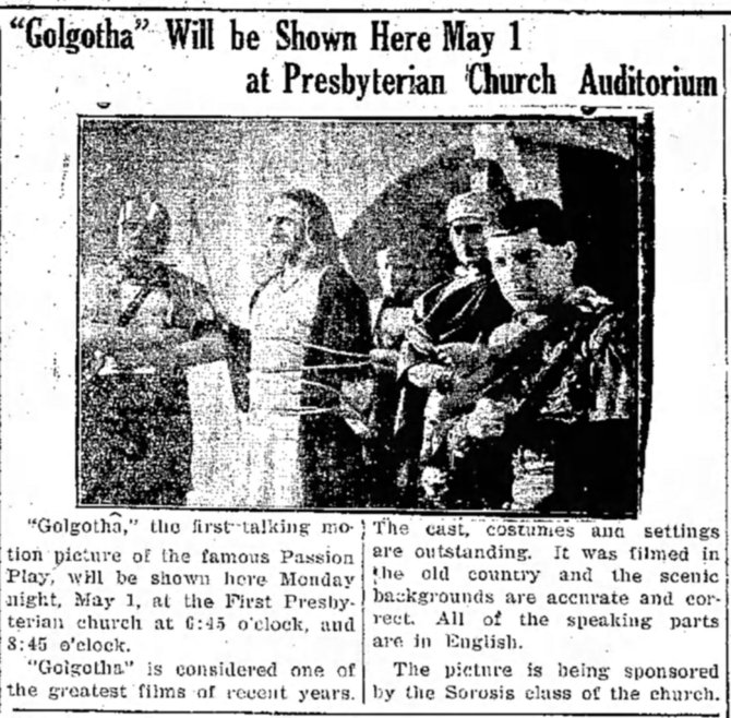 Golgotha church announcement The_Daily_Independent_Fri__Apr_28__1939_