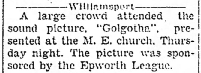 Golgotha Church showing The_Circleville_Herald_Mon__Jan_24__1938_