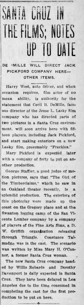 Girl of the Timber Claims Santa_Cruz_Evening_News_ Santa Crus, California Thu__Mar_1__1917_