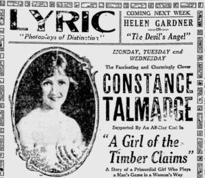 Girl of the Timber Claims The Reading Eagle  Sunday, December 5 1920 (3)