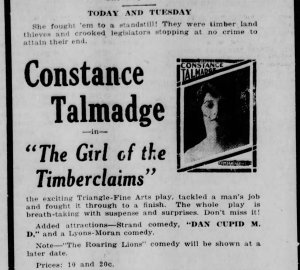 Girl of the Timber Claims The_Courier_Gazette_ McKinney, Texas Mon__May_5__1919_