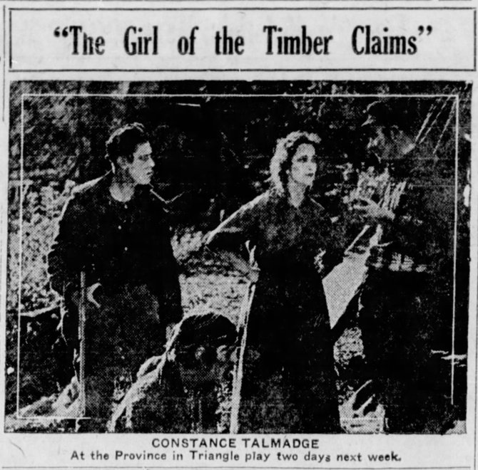 Girl of the Timber Claims  The_Winnipeg_Tribune_ Winnipeg, Manitoba, Canada Sat__Jun_2__1917_