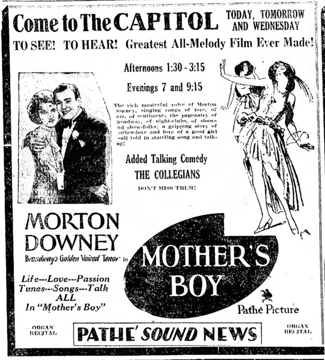 Mother's Boy ad Lebanon_Daily_News_Mon__Nov_25__1929_