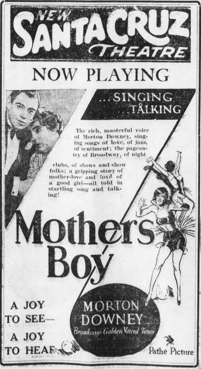 Mothers Boy ad Santa_Cruz_Evening_News_Wed__Aug_21__1929_