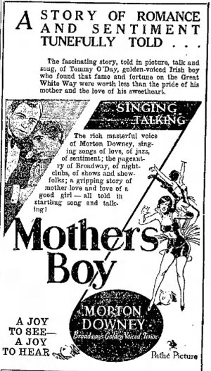 Mother's Boy ad The_Galveston_Daily_News_Galveston, Texas Sun__Jun_23__1929_