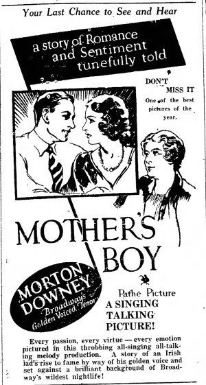 Mother's Boy ad The_Gettysburg_Times_Mon__Aug_5__1929_