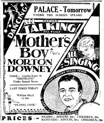 Mother's Boy ad The_Journal_News_Hamilton, Ohio Wed__Aug_7__1929_