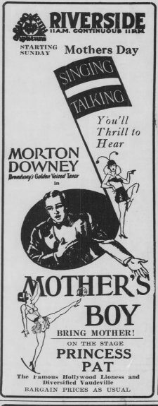 Mother's Boy ad The_Wisconsin_Jewish_Chronicle_Fri__May_10__1929_