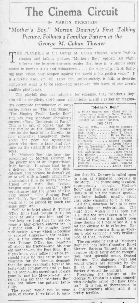 Mother's Boy review The_Brooklyn_Daily_Eagle_Wed__May_8__1929_
