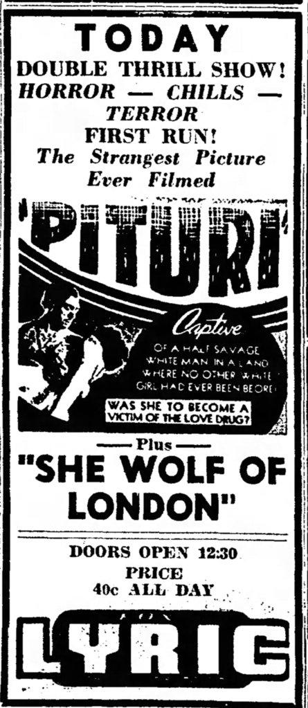 She Wolf of London Tucson_Daily_Citizen_ Tucson, ArizonaThu__Aug_1__1946_