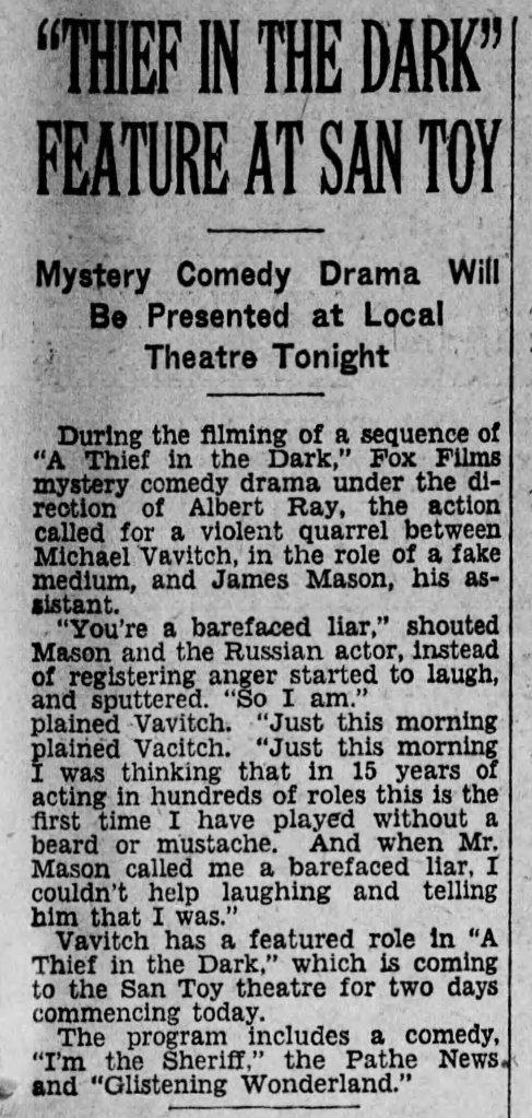 Thief in the Dark Reading_Times_ Reading, Pennsylvania Mon__Oct_1__1928_