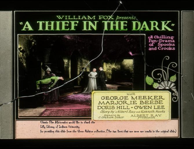 Thief in the Dark slide from the Glenn Ralston collection at the Lilly Library of Indiana University