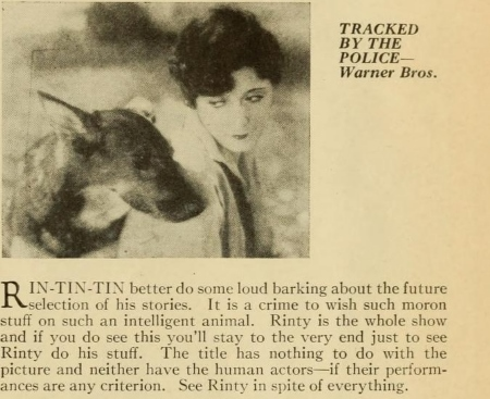 Tracked by the Police,  Photoplay Magazine(July 1927)