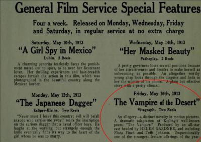 Vampire of the Desert The Moving Picture World May 10 1913 2
