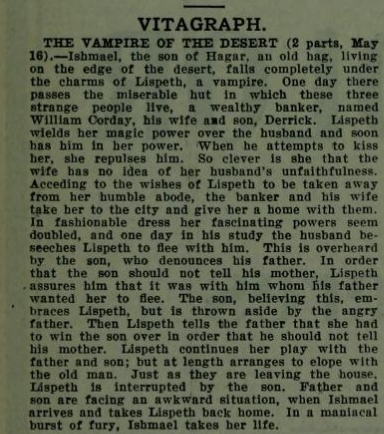 Vampire of the Desert The Moving Picture World May 10 1913 (2)
