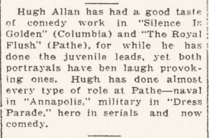 Hugh Allan Silence is Golden article Hammond Lake County Times, Wednesday, April 30, 1930, Page 8.htm_20140623160550