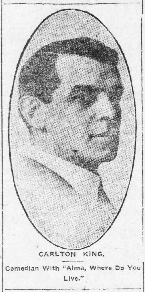 Carlton King Alma The_Charlotte_News_Thu__Oct_24__1912_