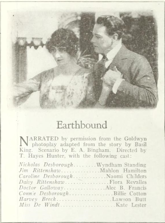 Earthbound cast and crew Photoplay November 1920
