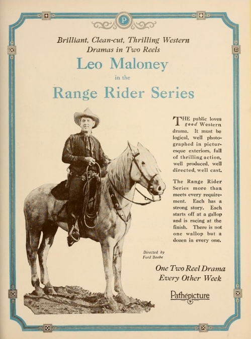 Leo Maloney Exhibitor's Trade Review (Jun-Aug 1922)
