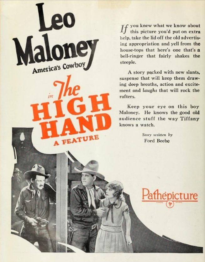 Leo Maloney The Film Daily (Jul-Dec 1926)