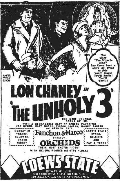 unholy 3 ad