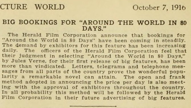 Moving Picture World October 7, 1916