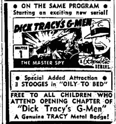 Portsmouth, New Hampshire, held it's Dick Tracy's G-Men Grand Opening on January 19