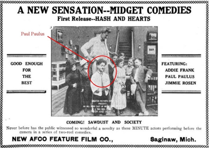 Addie Frank Paul Paulus film Michigan Film Review, December 25, 1917