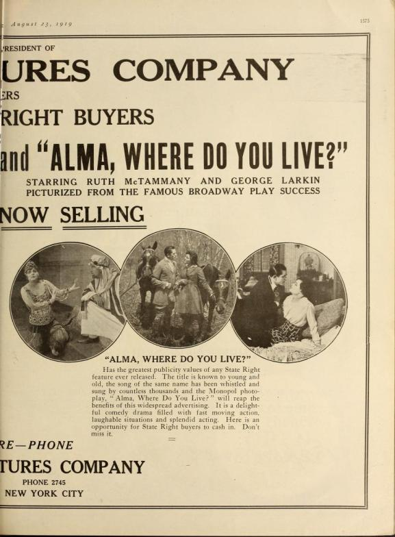 Motion Picture News, August 23, 1919 2