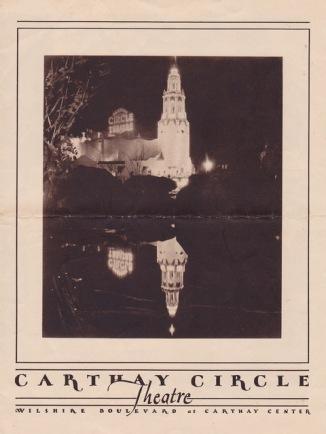 Carthay Circle Theatre Flyer