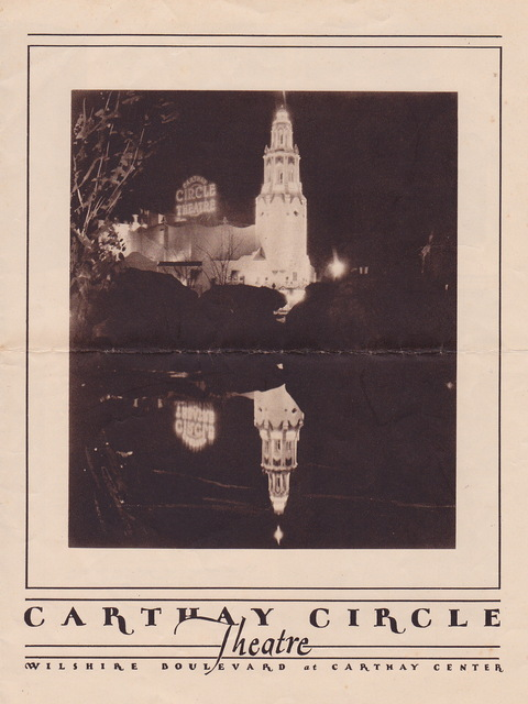 Carthay Circle Theatre Flyer