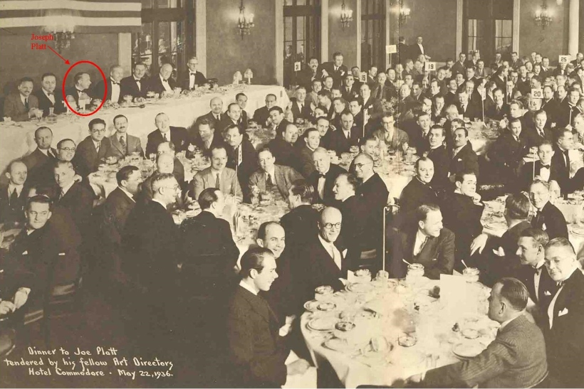 Joseph Platt Art Directors Club-Dinner-Hotel-Commodore-5-22-36