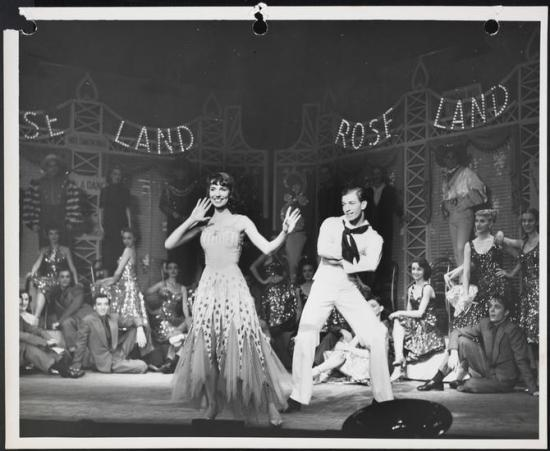 Brascia as Willie in Hazel Flagg along with Helen Gallagher in the title role. From the Collections of the Museum of the City of New York.