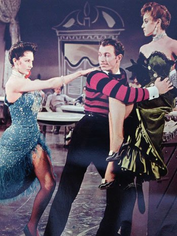 Johnny Brascia in the Frankie and Johnny ballet scene with the marvelous Cyd Charisse and the beautiful Liliane Montevecchi