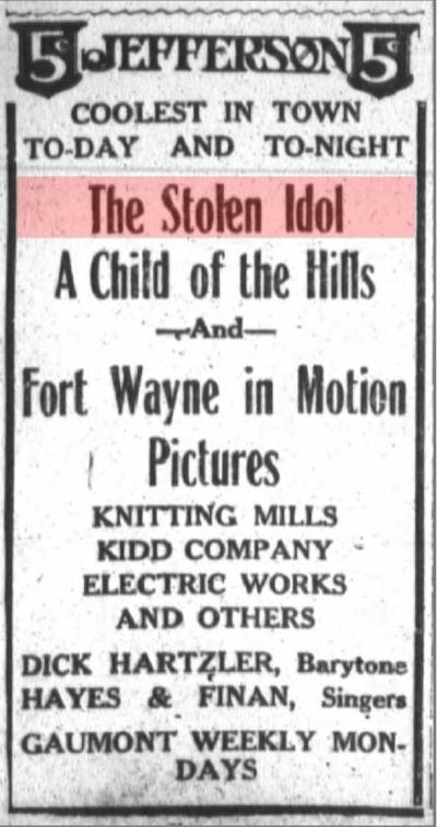 Fort Wayne Journal-Gazette, Fort Wayne, Indiana, June 22, 1913