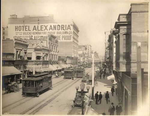 Hotel Alexandria Where Tom Poste had his haberdashery; circa 1906