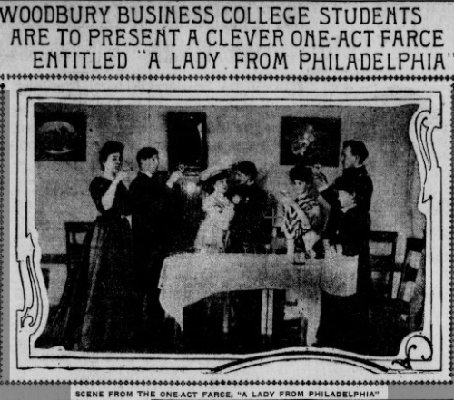 Ms. Maison at a Woodbury College state production; Los Angeles Herald, Los Angeles, California, February 9, 1904