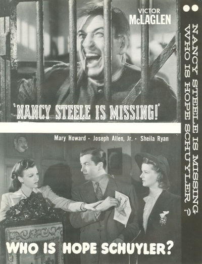 Nancy Steele is Missing Press Kit from the William K Everson Archive NYU